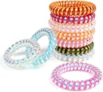 ZTMY Spiral Hair Ties,10 Pieces Colorful Elastic Coil Hair Ties For All Hair Types, Ponytail Holder Hair Ties No Crease Phone Cord Hair Ties