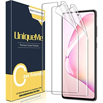 [2 Pack] UniqueMe Screen Protector For Samsung Galaxy Note 10 Plus/Samsung Galaxy Note 10+/Note 10 Plus 5G,TPU Clear Soft Film Anti-Scratch