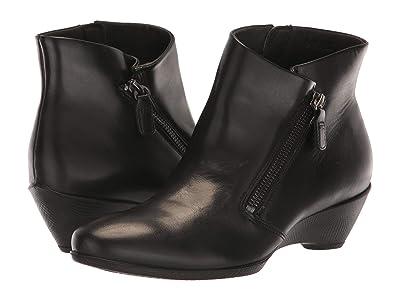 ECCO Sculptured 45 Bootie w/ Zip (Black Cow Leather) Women