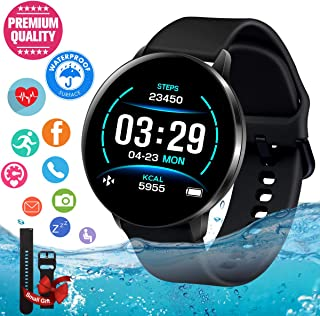 Smart Watch, Smartwatch for Android Phones, Waterproof Fitness Watch with Heart Rate..