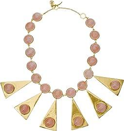 Pink Quartz/Vintage Gold