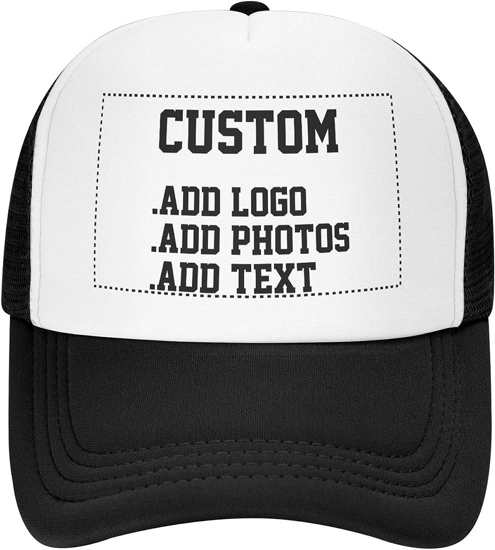 Personalized Mesh Trucker Hat, Custom Men's Dad Hat, Ladies Custom Snapback Baseball Cap, Trucker Hat
