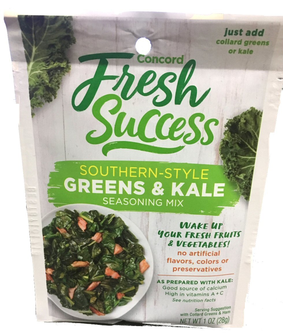 Concord Foods Southern Style Greens Pack Kale o Limited price sale Seasoning Mix Ranking TOP11