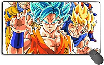 NiYoung Anime Dragon Ball Z Cosplay Mouse Mat Large Waterproof Gaming Mouse Mat with Non-Slip Base Durable Stitched Edges, Laptop Home Mousepad Smooth Polyester Surface Laptop Desk Mat