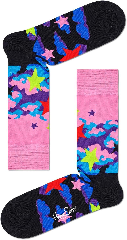 Happy Socks Unisex Printed Stars Combed Cotton Socks