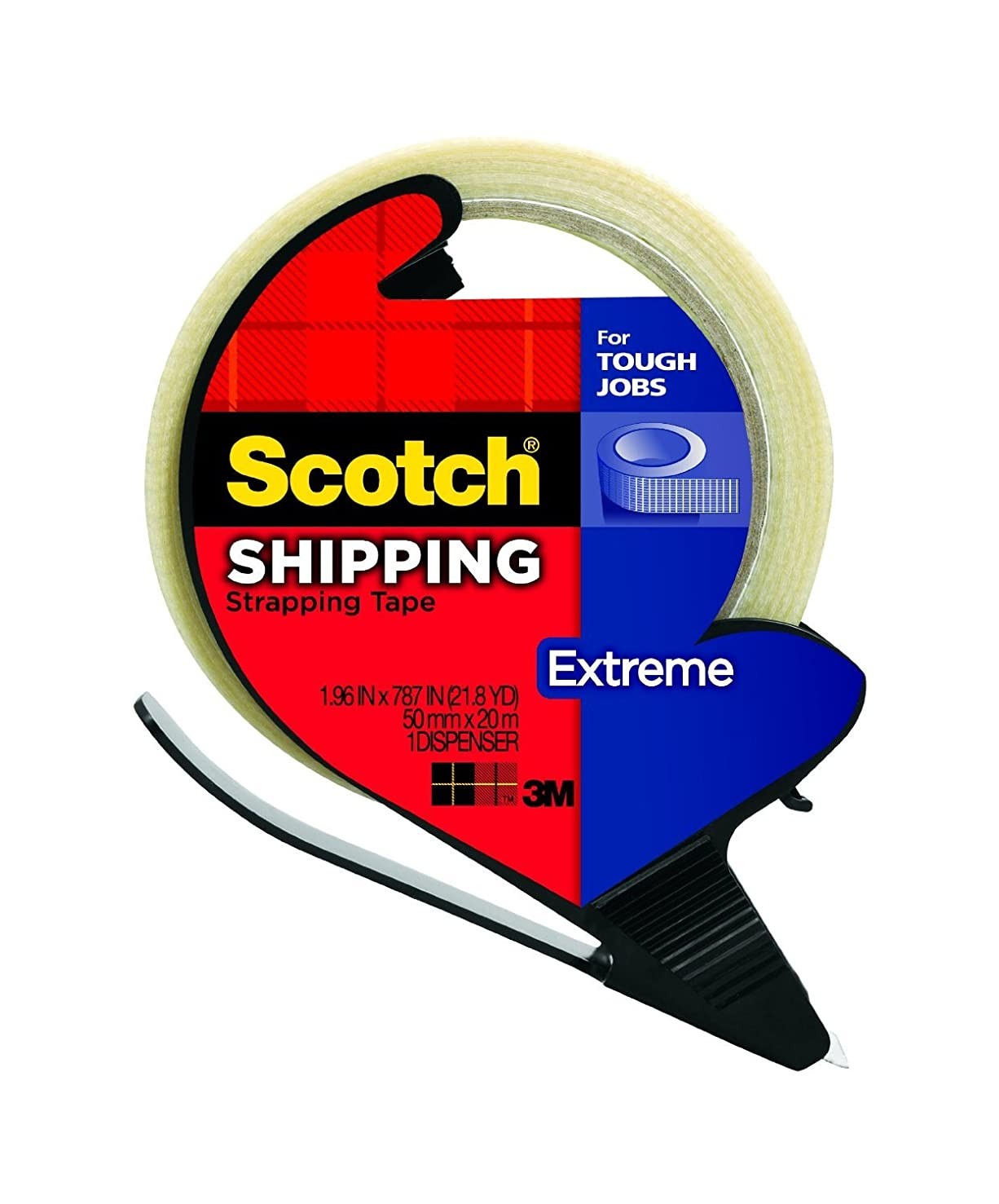 Scotch? Extreme Tape 8959-RD, 1.9 Inches x 21 Yards (2 Rolls)