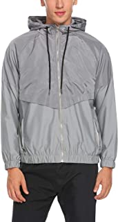 Tilloe Men's Waterproof Windproof Quick Dry Outdoor Jacket Sportswear Windrunner