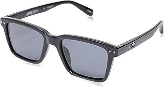Local Supply Men's COAST Polarized Sunglasses - Dark Grey Tint Lens, Gloss Black Frames