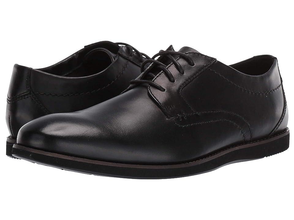 Clarks Raharto Plain (Black Leather) Men