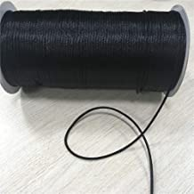 DFSM 2mm 20m/lot Black Rattail Satin Cord Chinese Knot Braided String Jewelry Findings Beading Rope R900 (Color : Black)