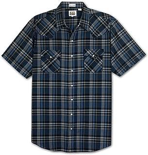 Ely Cattleman Tall Men's Assorted Plaid Short Sleeve Western Shirt