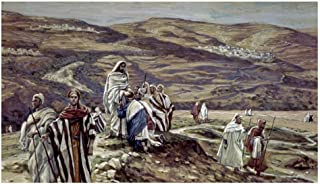 Global Gallery Art on a Budget James Tissot Christ Sending Out The Seventy Disciples Two Unframed Giclee on Paper Print, 17 1/4