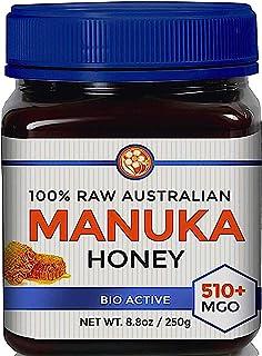 Raw Manuka Honey Certified MGO 510+ (NPA 15+) High Grade Medicinal Strength Manuka with Antibacterial Activity - 250g by G...