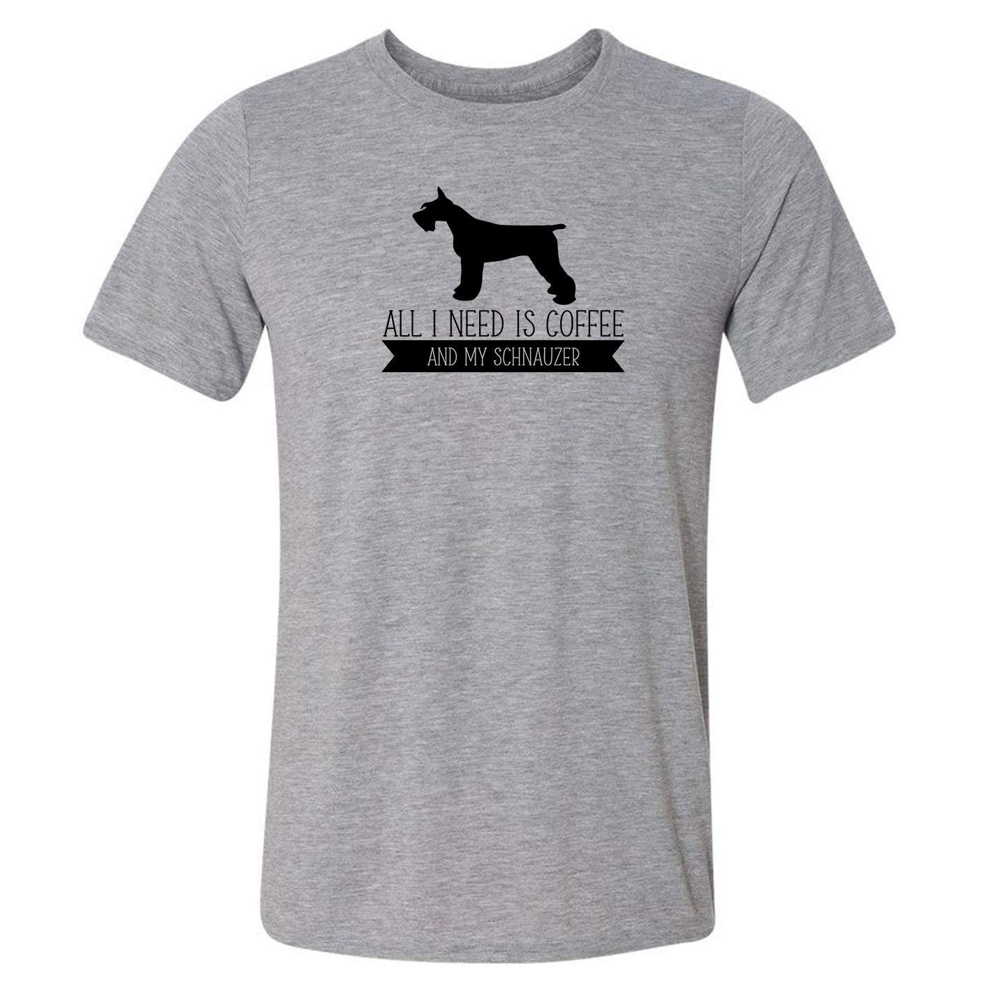 NEW before selling ☆ All I Need is Coffee New life T-Shirt and My Schnauzer