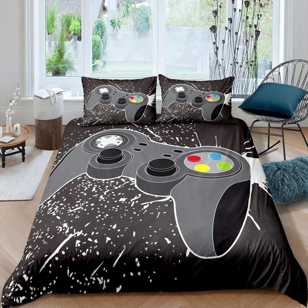 DAXIANGJIAO Duvet Cover In a popularity Queen Size Beddin Easy Translated Handle Care Black