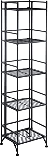 Convenience Concepts Designs2Go X-Tra Storage 5-Tier Folding Metal Shelf, Black