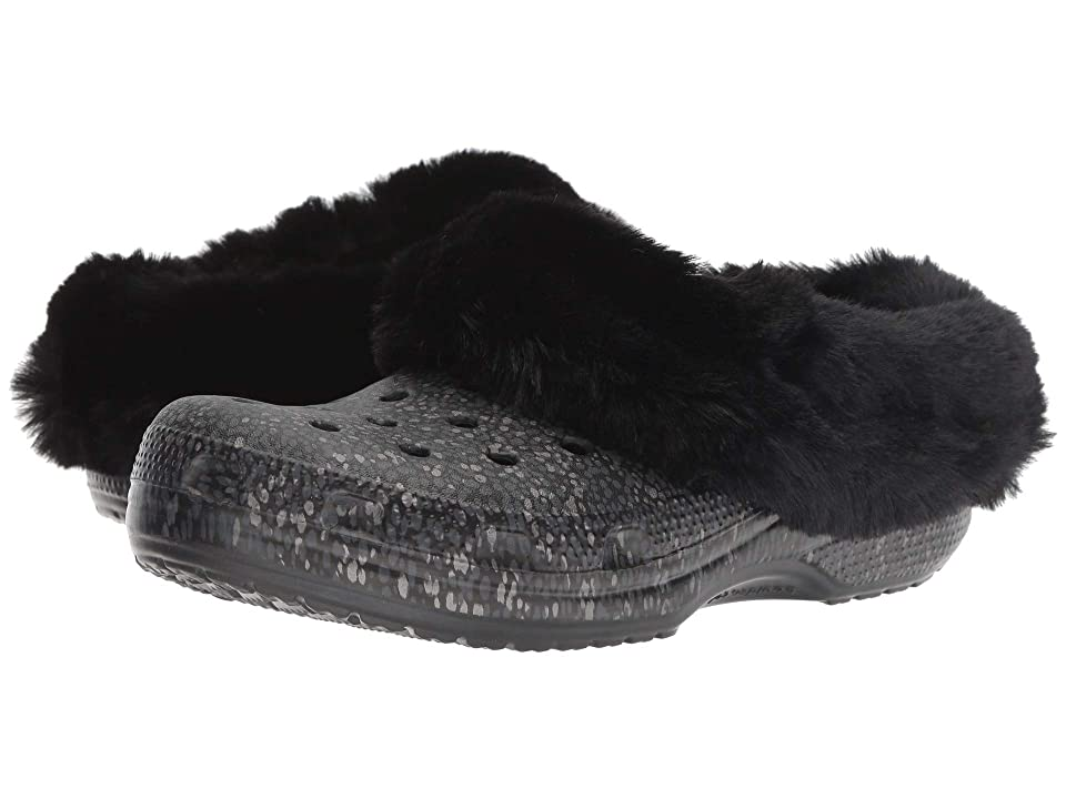 Crocs Classic Mammoth Luxe Radiant Clog (Black) Clog Shoes
