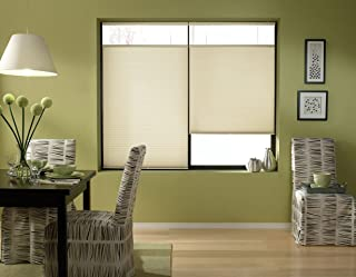 Windowsandgarden Cordless Top Down Bottom Up Cellular Honeycomb Shades, 62W x 41H, Daylight, Any Size 19-72 Wide