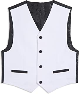 Calvin Klein Boys' Patterned Suit Vest