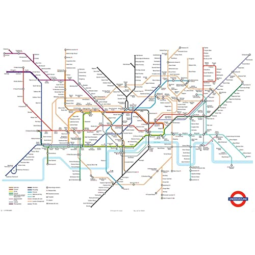 London Tube Map: Amazon co uk