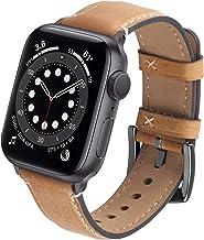GerbGorb Apple Horloge Strap 42mm 44mm 38mm 40mm, Vintage Lederen horloge Band compatibel met iWatch Series 6/5/4/3/2/1/SE...