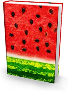 Book Sox Stretchable Book Cover: Jumbo Watermelon Print. Fits Most Hardcover Textbooks up to 9 x 11. Adhesive-Free, Nylon Fabric School Book Protector. Easy to Put On. Washable & Reusable Jacket.