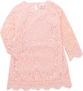 BELS 女婴公主裙蕾丝花朵白色派对婚礼夏季连衣裙服装