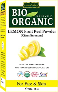 Indus Valley Natural Lemon Fruit Peel (Citrus Limon) Powder