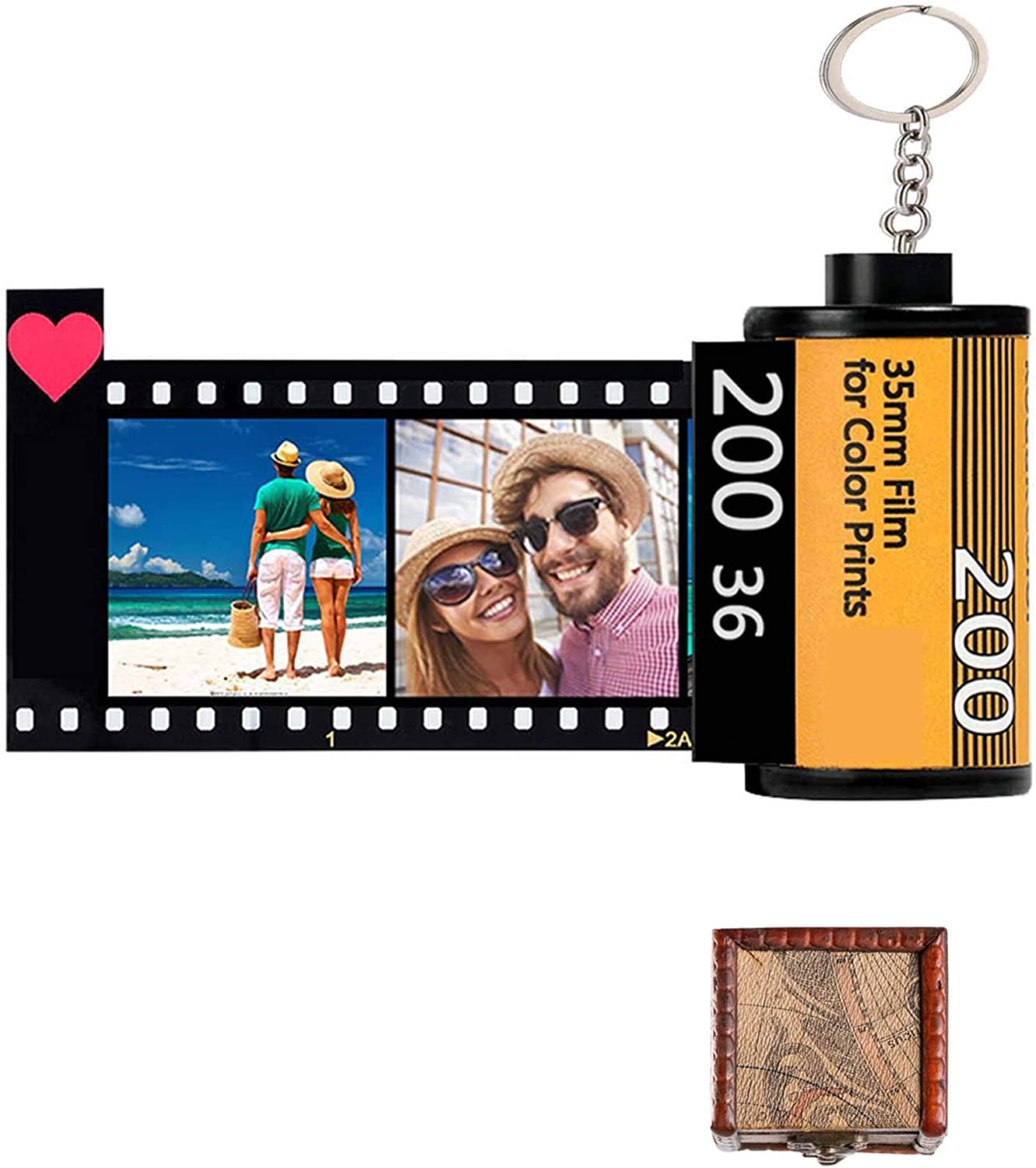 Personalized Gifts Custom Camera Film Roll Keychain Personalized Keychains with Picture Colorful Custom Camera Film Roll with 10 Photo Key Rings