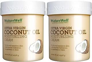 Naturewell Extra Virgin Coconut Oil Moisturizing Cream, 2Pack ( 453.5g Each)