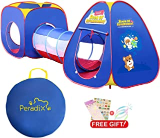 Peradix Kids Play Tent Tunnel 3 in 1, Pop Up Tent Toddlers Crawl Tunnel Playhouse Ball Pit Tent for Children,Boys,Girls,In...