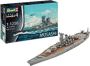 Revell-Musashi, Escala 1:1200 Kit de Modelos de plástico, Multicolor, 1/1200 06822 6822