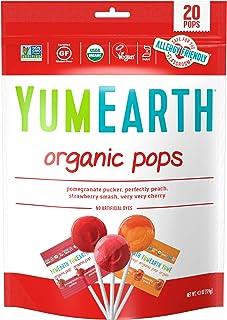 Yum Earth Organic Lollipops 20+, 119 g