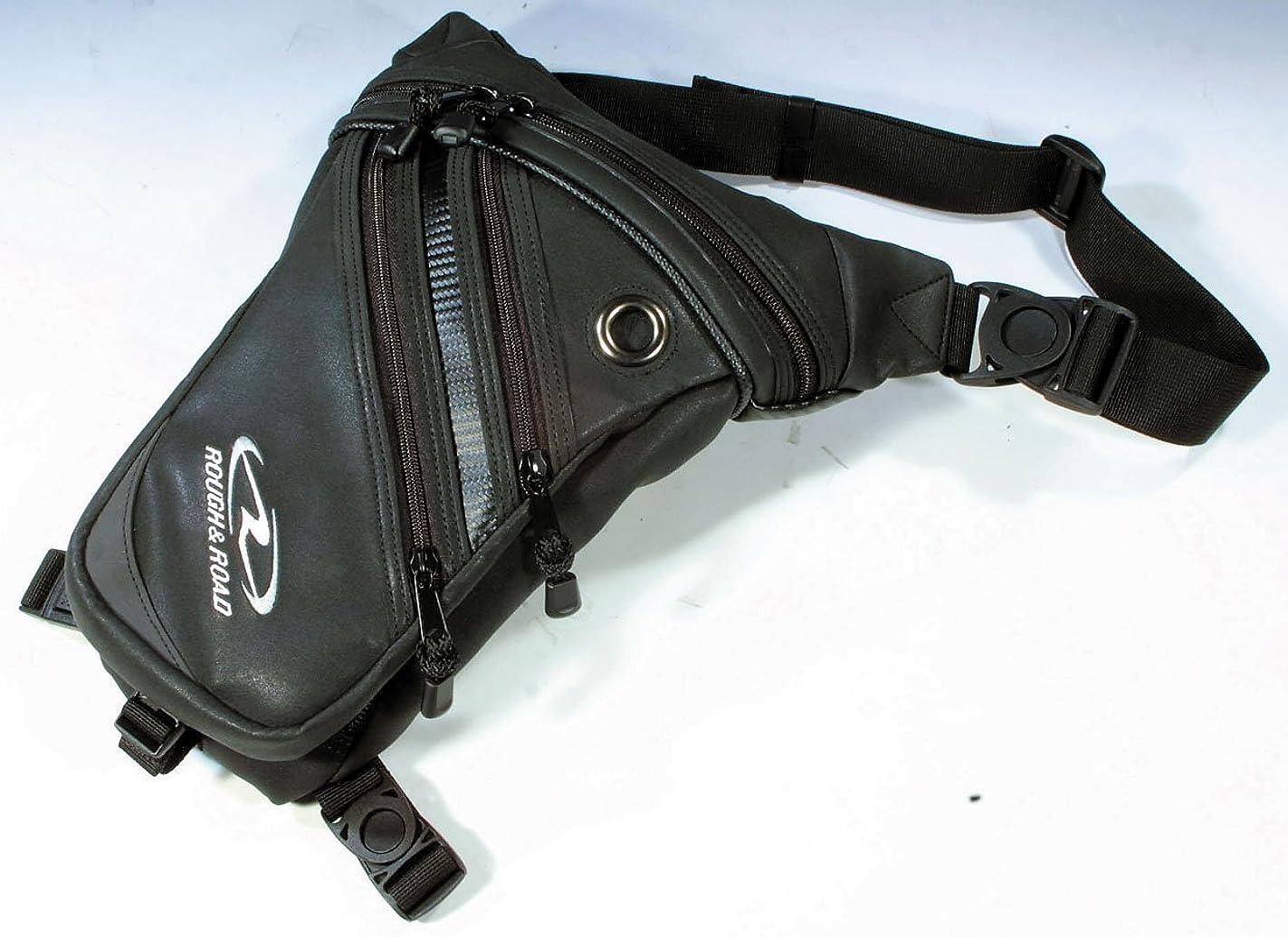 ブラジャー専門用語本質的ではないラフアンドロード(ROUGH&ROAD) バイク用ホルスターウエストバッグ マットレザー RR5669