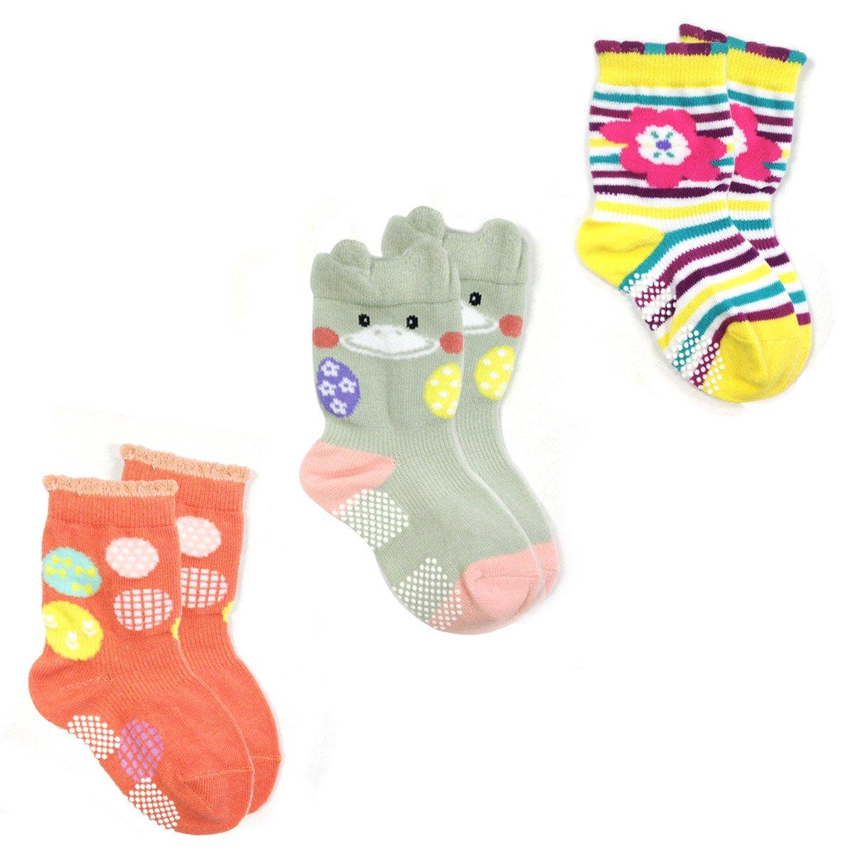Selling Allydrew Animal Non-Skid Topics on TV Toddler Socks 3 Duck L Set of