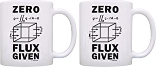 Electrical Engineering Gifts Zero Flux Given STEM Gifts Science Engineer Gifts Electrical Engineering Gift Physics Gift 2 Pack Gift Coffee Mugs Tea Cups White