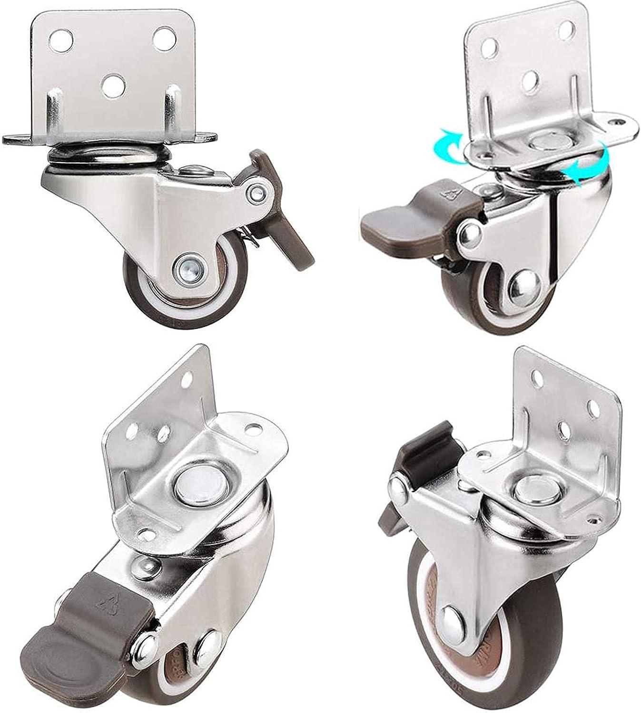 YANJ Swivel Wheels favorite 4Pcs with L-Shaped Plate Mounting Japan Maker New Furniture