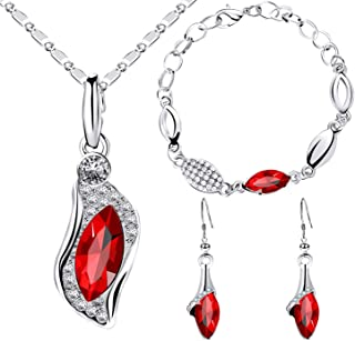 Sukkhi Gorgeous Crystal from Swarovski Rhodium Plated Jewellery Combo for Women (CBMIX81133)