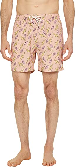 Short Length - Recycled Polyester All Over Printed Swimshorts
