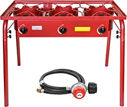Concord Outdoor Stand Stove Cooker w/Regulator Brewing Camping Supply (Limited RED Edition)