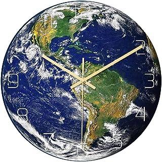 Kejing الساعات الزخرفية الصامتة أزياء الساعات الحائط، الأرض مضيئة الساعات الصامتة أكريليك الإبداعية كوارتز ساعة واحدة سهلة...