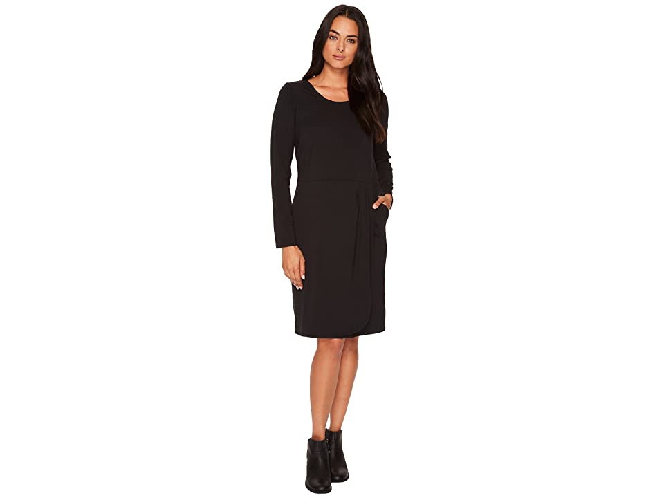 ExOfficio Wanderlux Tulipa Dress (Black) Women