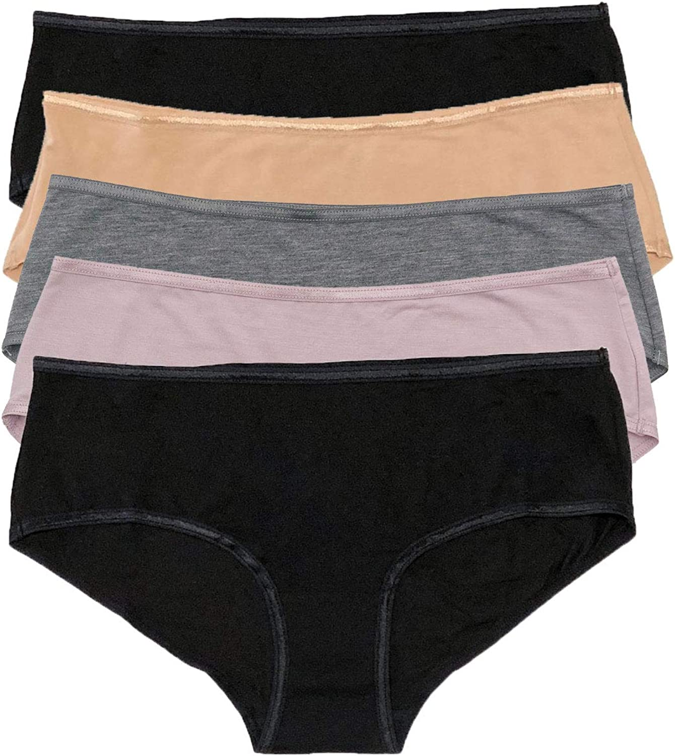 Felina Los Angeles Mall So Smooth Modal Panty Hipster 5-Pack High quality Tagless