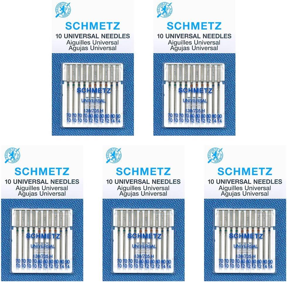 50 SchmetzUniversal Sewing Needles Machine Super 4 years warranty sale -Assorted