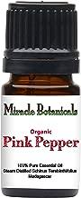 Miracle Botanicals Organic Pink Pepper Essential Oil - 100% Pure Schinus Terebinthifolius - Therapeutic Grade - 5ml