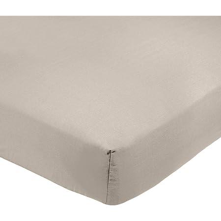 Amazon Basics AB 200TC Poly Cotton, mélangé, Gris, 90 x 190 x 30 cm