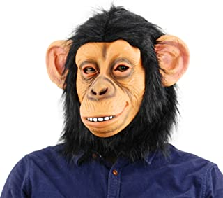 QTMY Latex Rubber Grotesques Horrible Chimp Apes Gorilla Monkey Mask with Hair for Halloween Party Costume (1)
