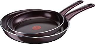 Tefal c40290 Dark Ruby cerámica Ver siegeltes – Juego de sartenes, Aluminio, Berenjena,