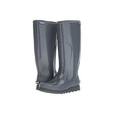 SOREL Joan Rain Tall Gloss (Graphite/Black) Women