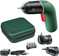 Bosch Accuschroevendraaier IXO Set (6e generatie, groen, IXO haakse en IXO excentrische schroefopzetstukken, variabele toe...